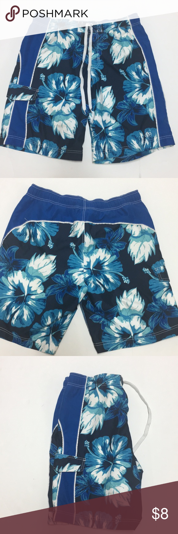 3baefd4b50b01 Men's OP swim trunks A great color & in EUC Men's Swim Trunks with tie at  waist. One pocket Men's Large Waist Size ( 36-38) OP Swim Swim Trunks