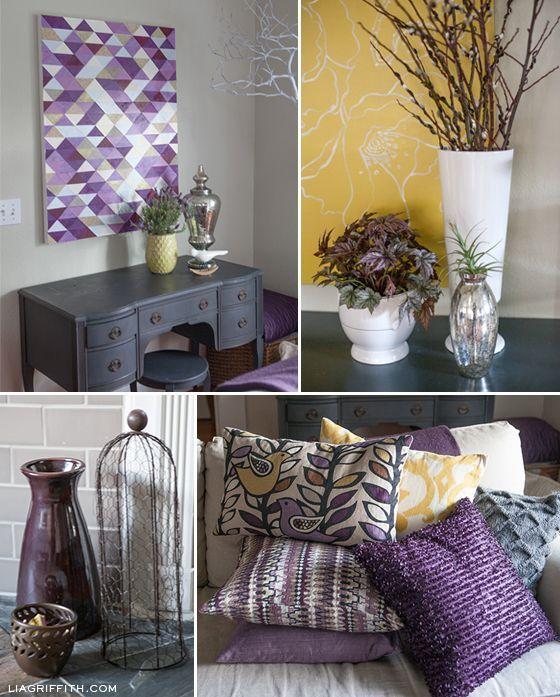 Plum Living Room | Plum Infused Living Room Details