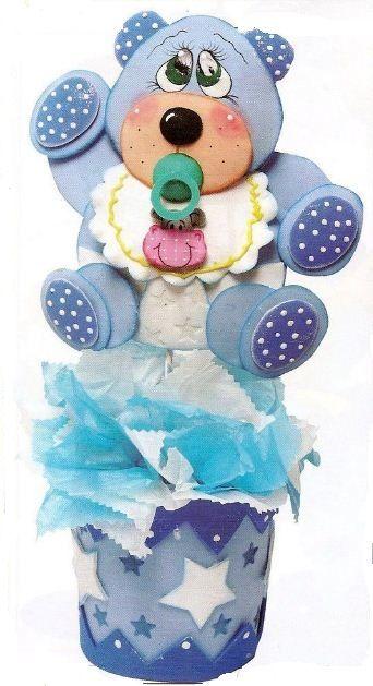 Mimundomanual: Centro De Mesa Para Baby Shower