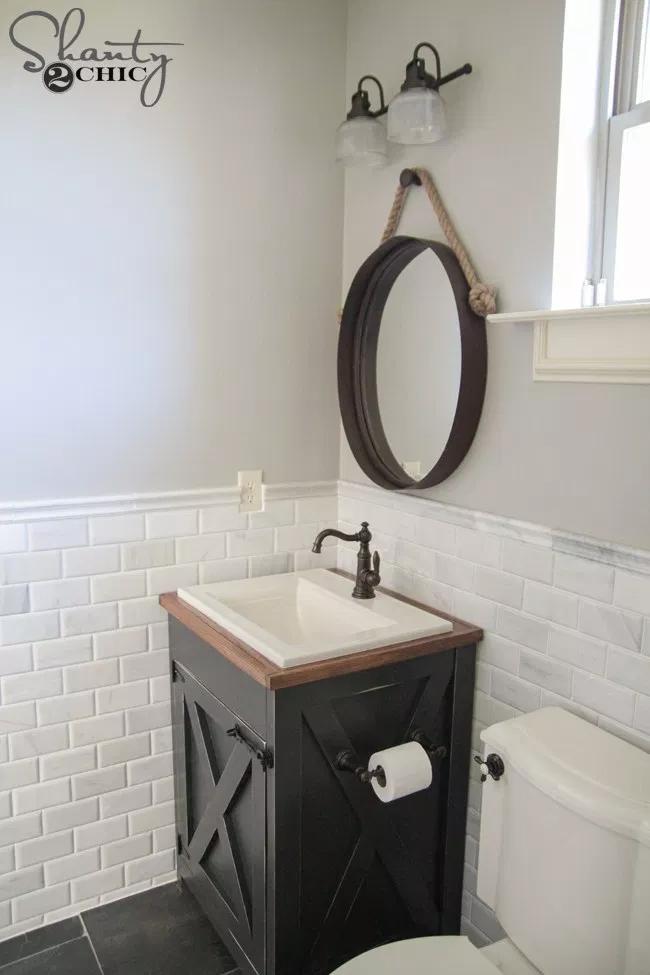 Photo of DIY Farmhouse Bathroom Vanity