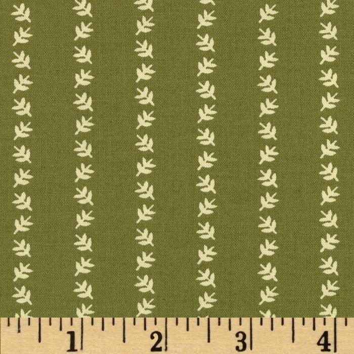 Designed by Char Hopeman for Troy Corporation, this cotton print fabric is perfect for quilting, apparel and home decor accents. Colors include green and cream.