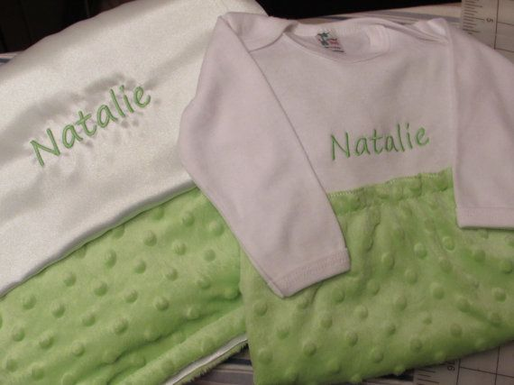 Natalie Minky Baby Gown by KandRsCreations on Etsy, $20.00