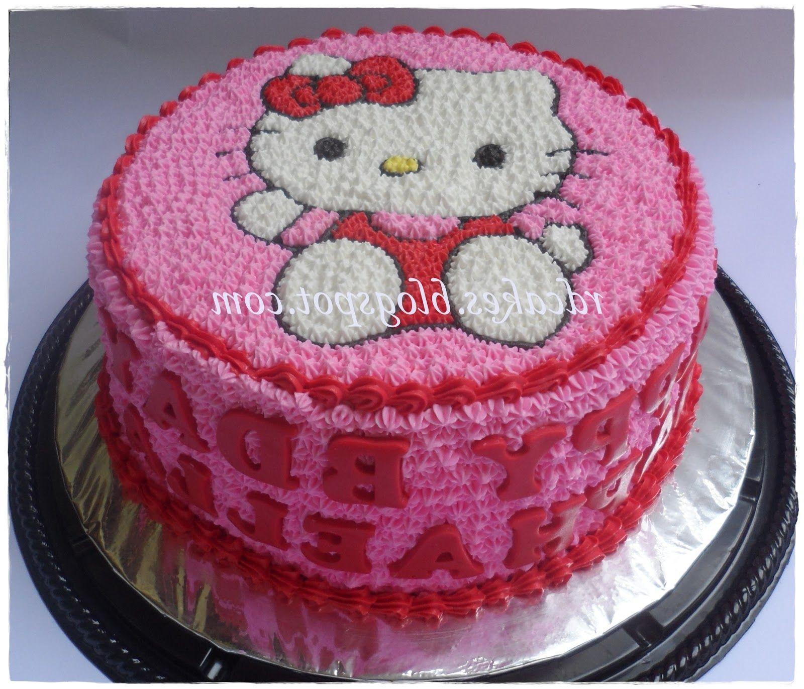 Cake Design Hello Kitty : Hello kitty buttercream cake cakes Pinterest Cake ...