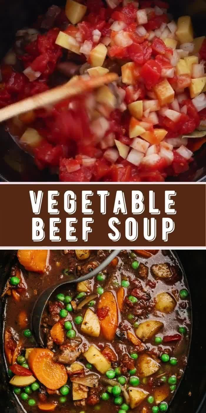 Homemade Vegetable Beef Soup is an easy, delicious