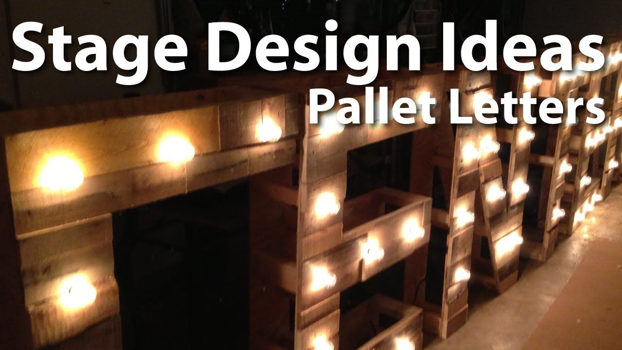Church Stage Design :: Pallet Letters