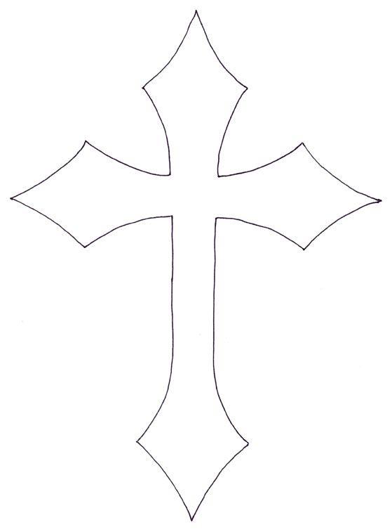 Simple Cross Line Art : Stencil for cross shirt http ilovetocreate