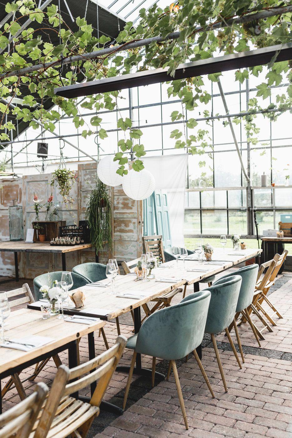 Diner Styling Bij Trouwlocatie In De Kas In Winssen