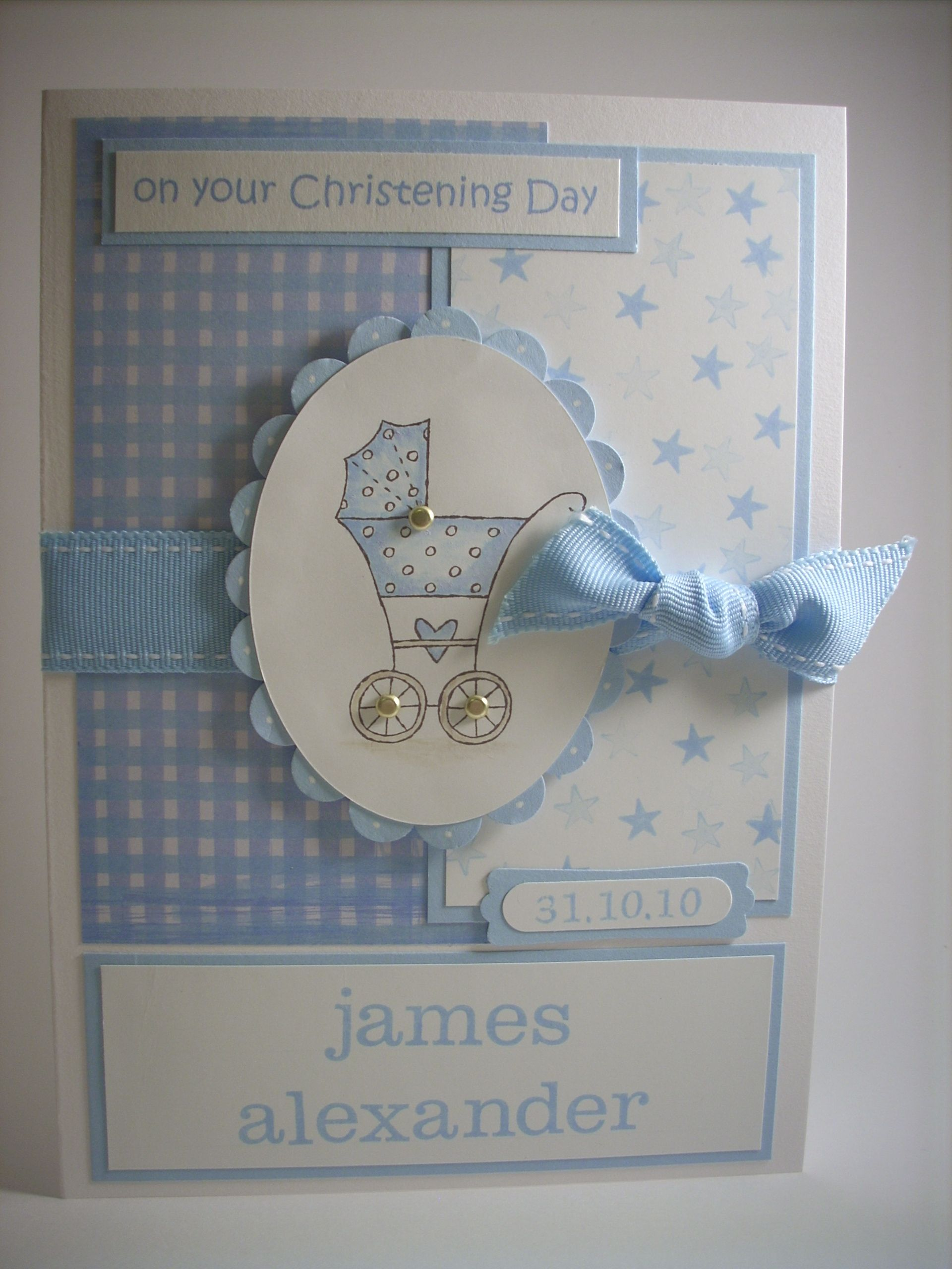 card making ideas christening