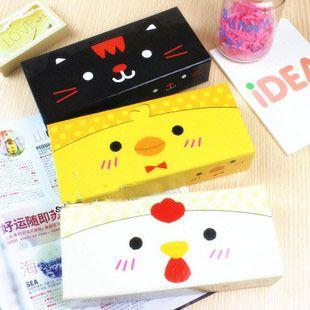 W-0018 stationery small cock cartoon stationery box fashion paper pencil case
