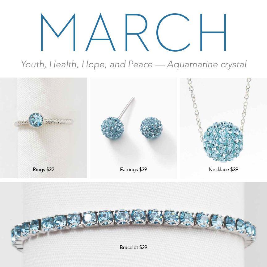 17785f831f354 Touchstone Crystal by Swarovski's March Birthstone Collection ...