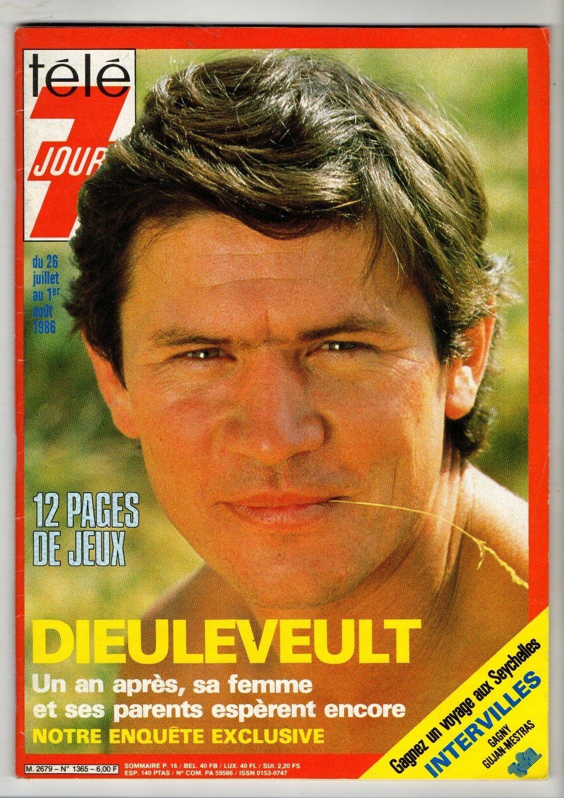 Détails sur TELE 7 JOURS 1365/1986 DIEULEVEULT MICHELE