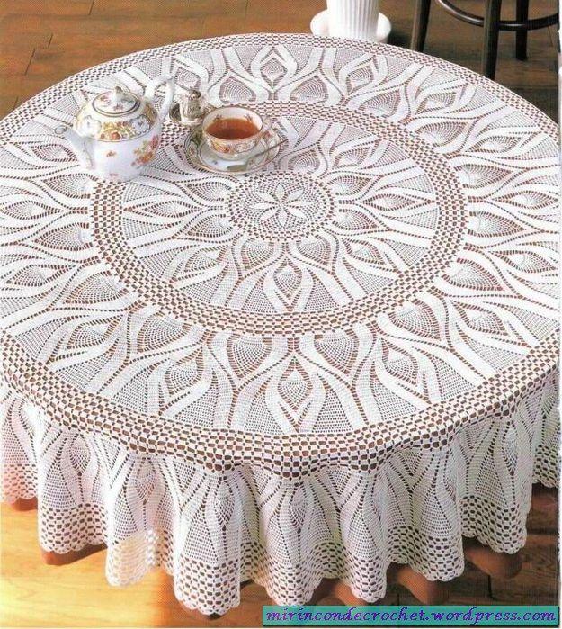 Patrones de carpetas y manteles en crochet | Hogar crochet ...