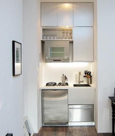 Secrets of increasing the visual space In a small kitchen Space