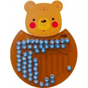 لوحة جدارية خشبية الدب Wooden Bear Christmas Ornaments Toys