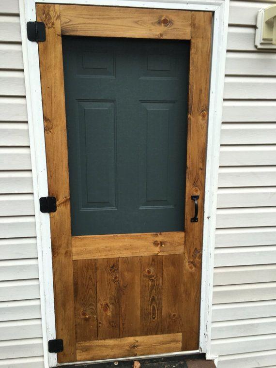 On Sale Beautiful Custom Rustic Screen Door With By Awrestoration