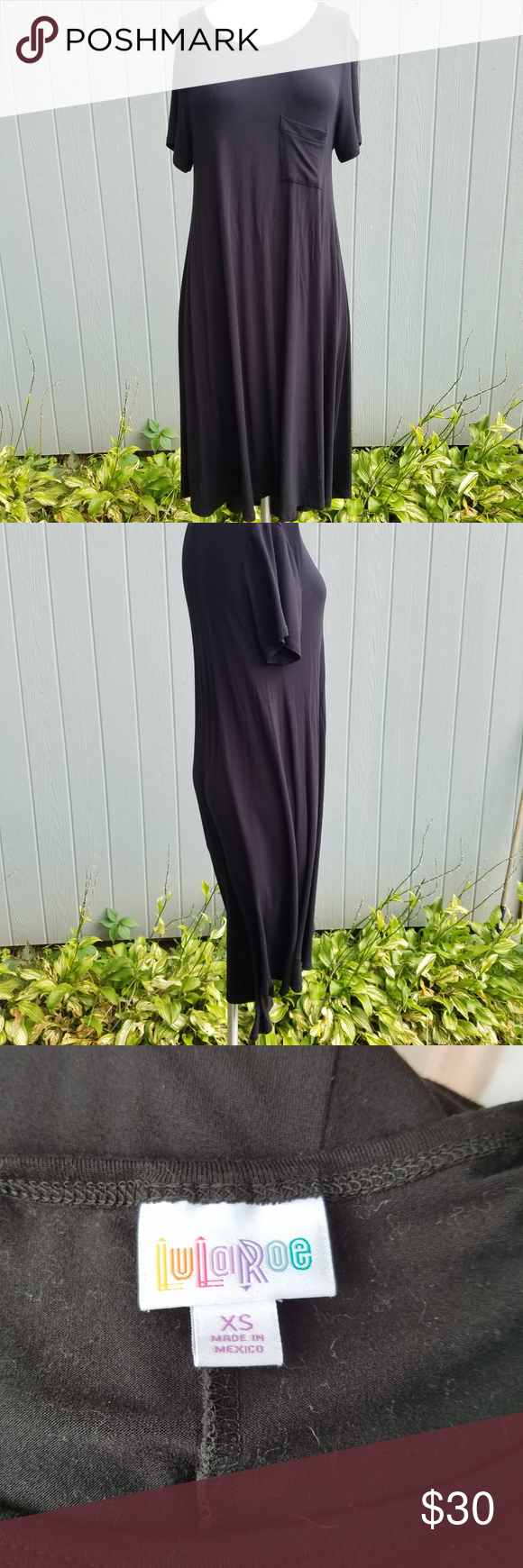 Lularoe black carly dress in my posh closet pinterest