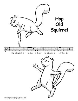Music Coloring Pages for Spring Music Education