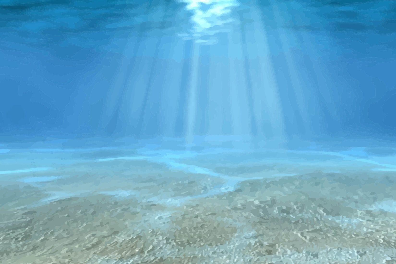 Clear Blue Underwater Wall Mural Underwater wallpaper