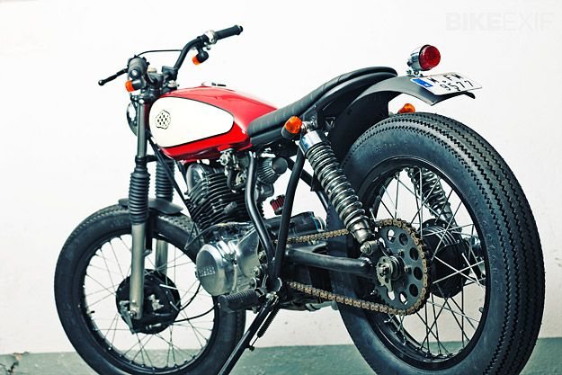 crd #4: yamaha sr250 | exhausted, cafes and scrambler