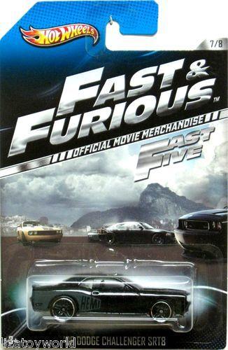 2008 Dodge Challenger SRT8 Hot Wheels 2013 FAST & FURIOUS #7/8 FAST 5 Movie Car