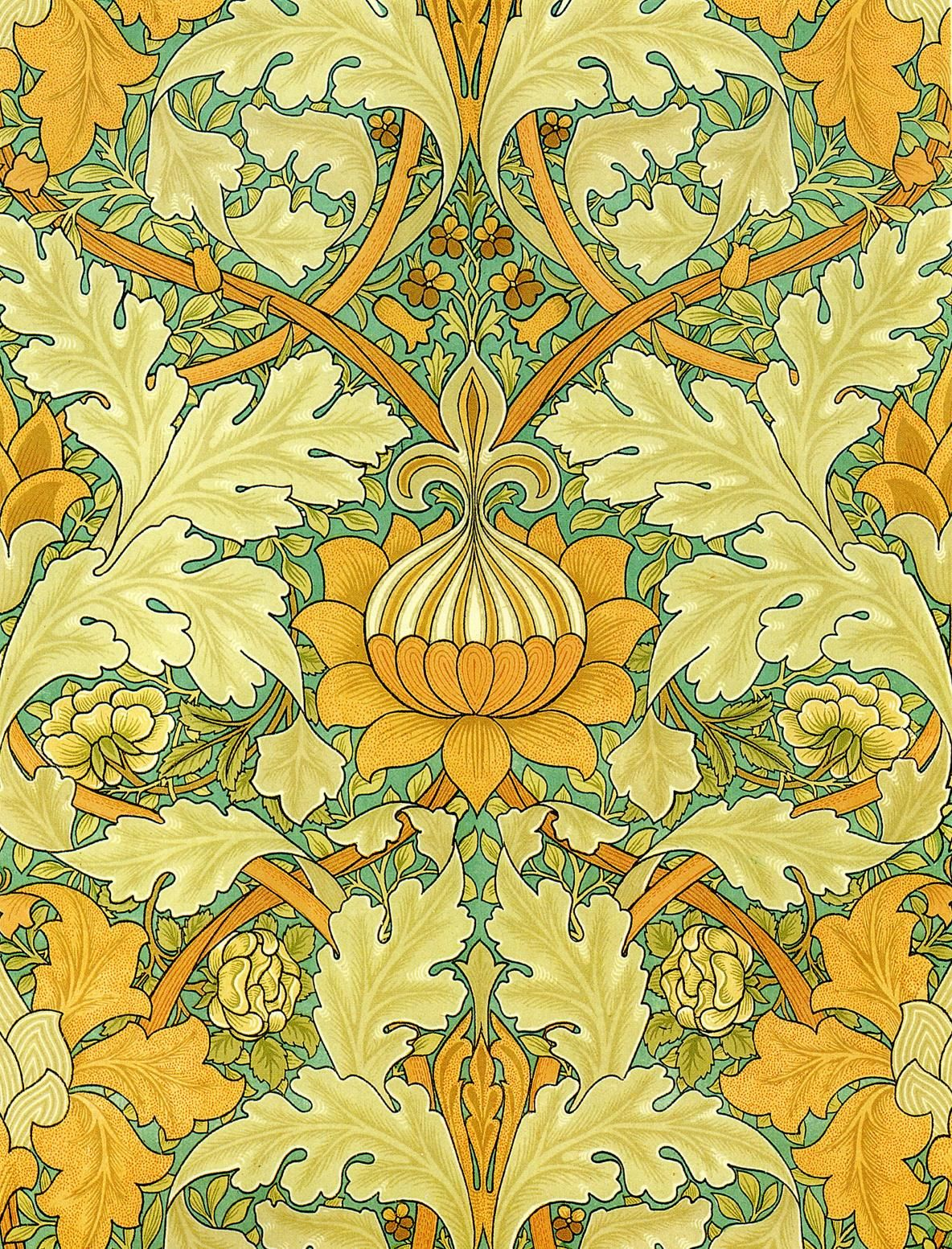 Wallpaper design for St. James' Palace by William Morris