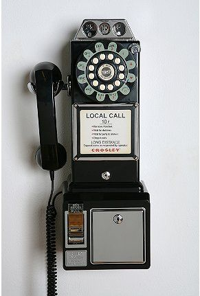 Crosley Pay Phone $90. Cool! It\'s a fully functional phone although ...
