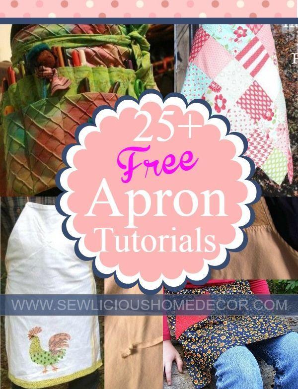 25 Free Apron Patterns and Tutorials | Pinterest | Dinge und Nähen