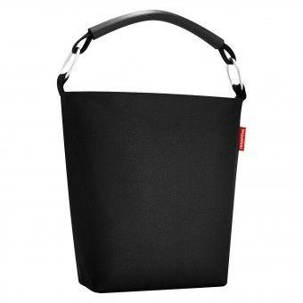 reisenthel ringbag L schwarz - Schultertasche Beuteltasche Shopper 14 Liter  | uni - schwarz