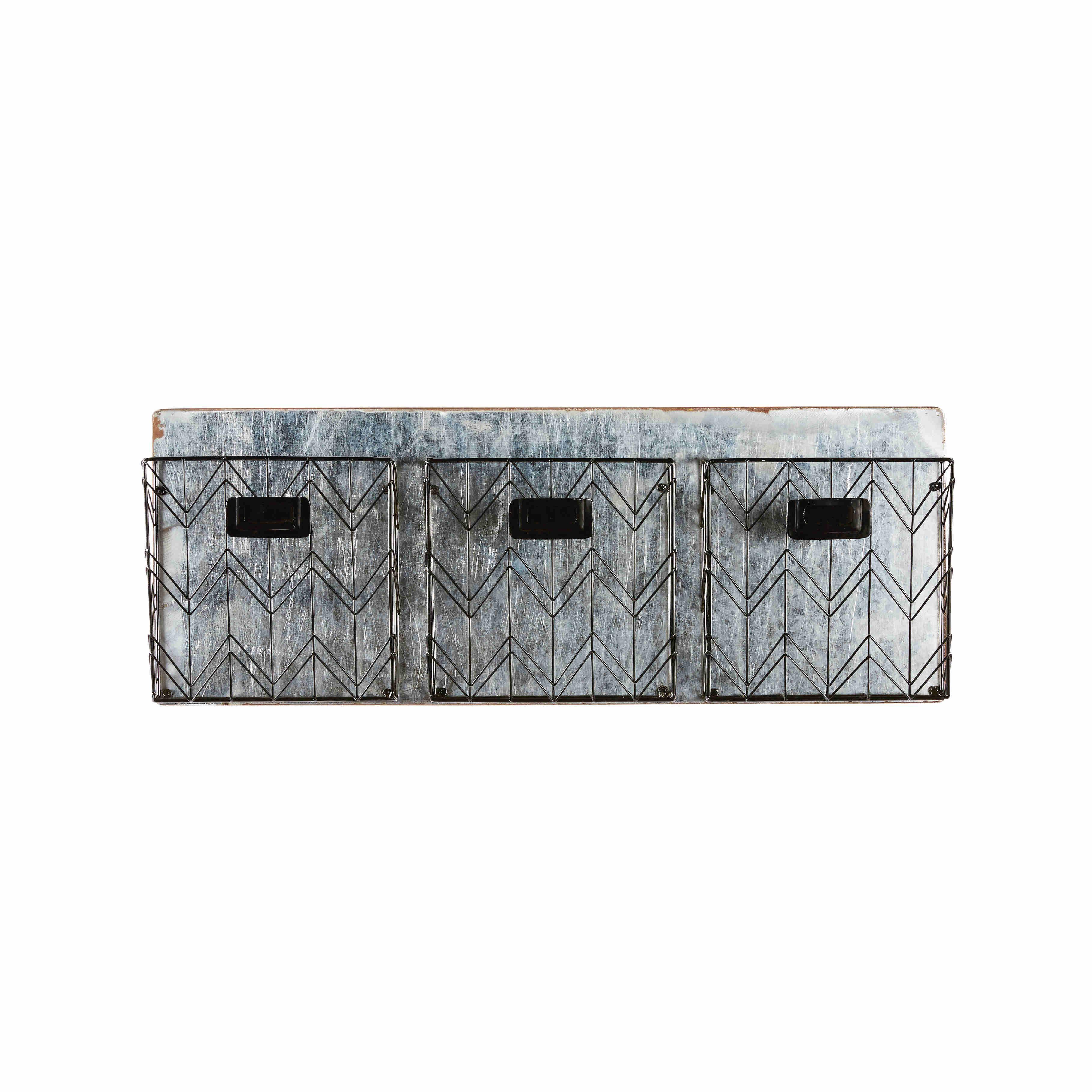 Wandregal mit 3 Fächern aus schwarzem Metall JOY | my home is my ...