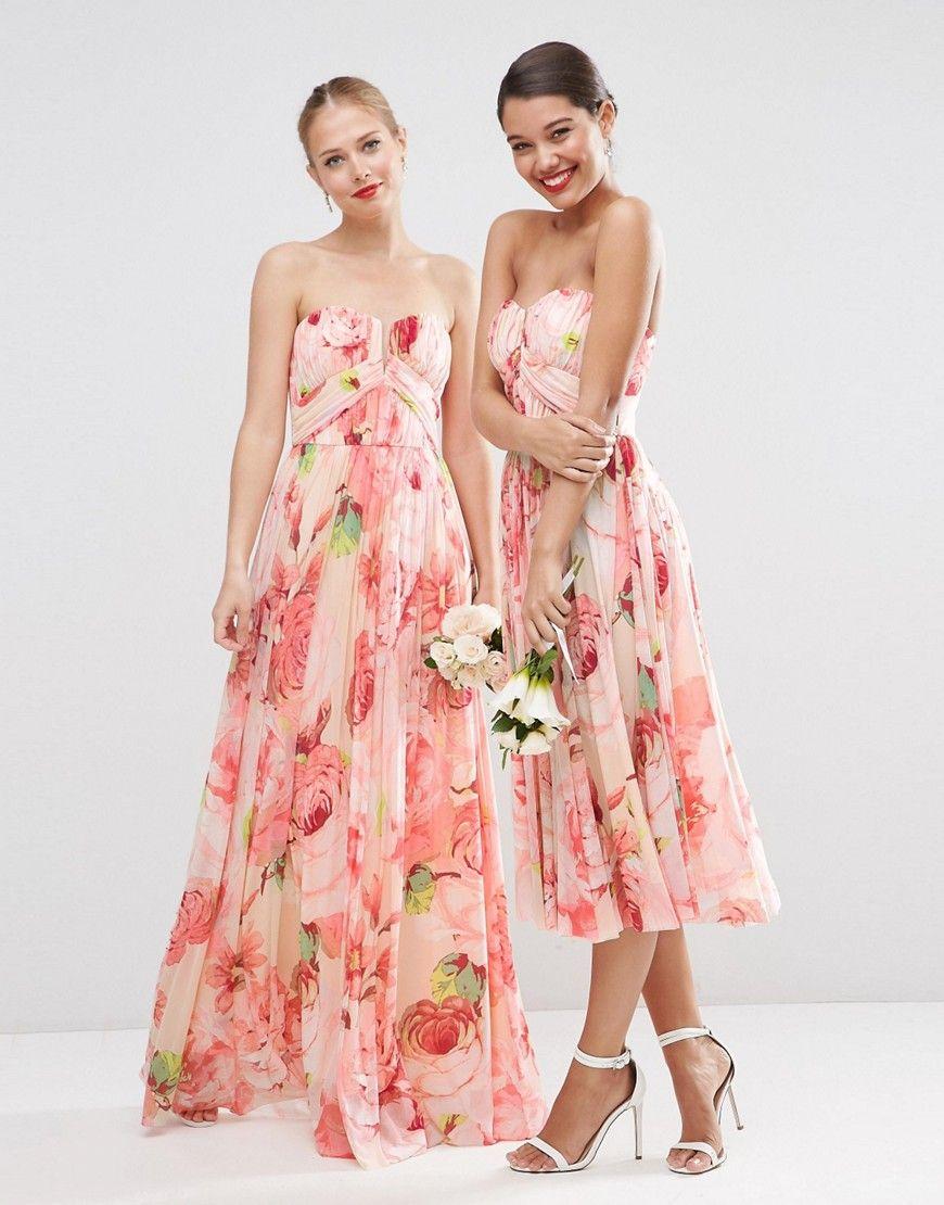 Floral print wedding dresses  Floral print bridesmaid dresses  meunier eronique  Pinterest