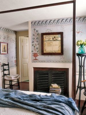 Shutters to cover fireplace opening bedrooms bedroom - Ideas to cover fireplace opening ...