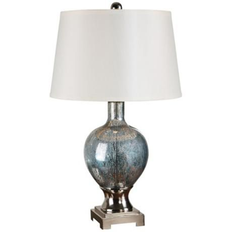 Uttermost Mafalda Blue Mercury Glass Table Lamp -   Happy ...