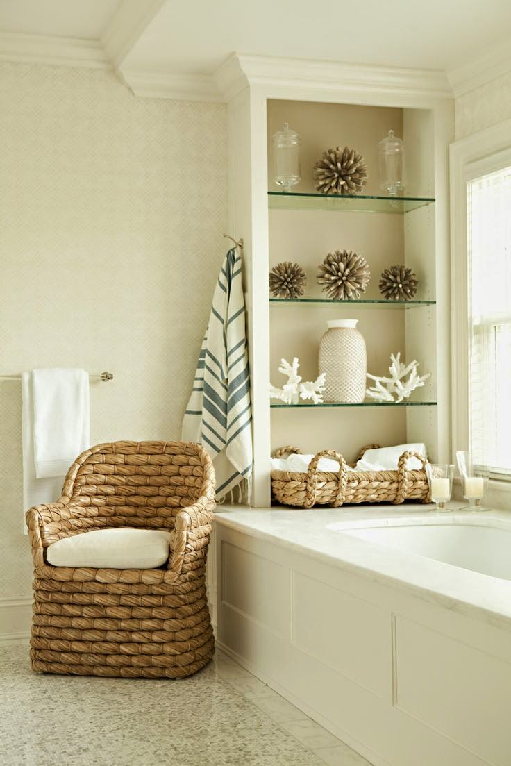 Top Ten Favorite Seagrass Accents | Interiors, Bath and Bathroom beach
