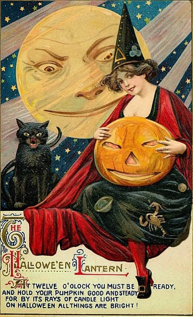 Look At These Bizarre Vintage Halloween Cards