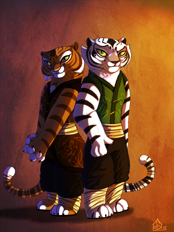 Striped Sisters By Suzamuri Deviantart Com On Deviantart Kung Fu
