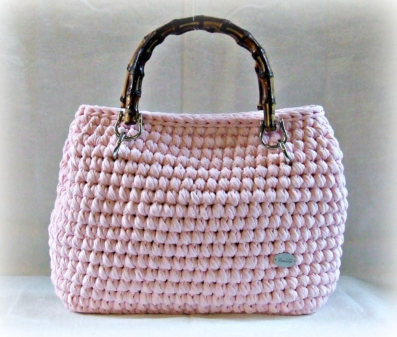 Bolso de trapillo bolsos tejidos pinterest bolsos de for Bolso crochet trapillo