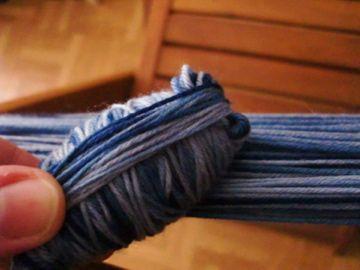 Faire une pelote de laine à partir d'un écheveau