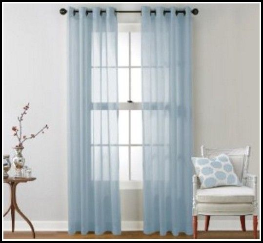 Light Blue Sheer Curtain Panels 1