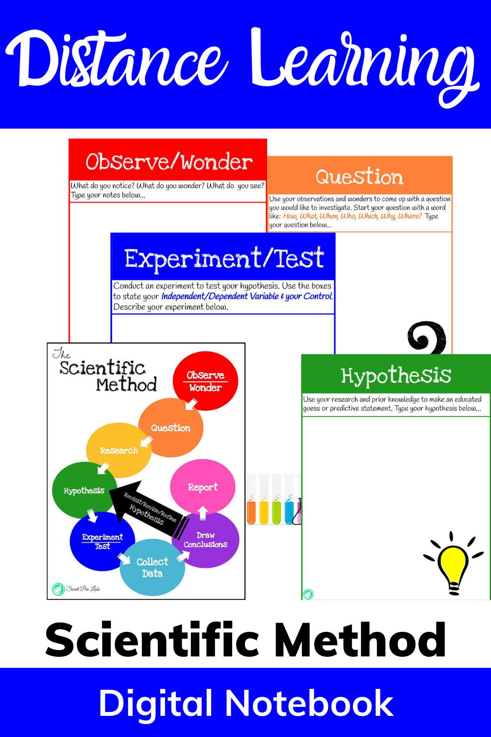 Scientific Method With Distance Learning Scientific Method Distance Learning Interactive Science Notebook
