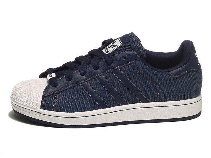 Adidas adidas Superstar II Denim Unisex Mens Womans Trainers Navy blue  V22851 5c86dd7fea