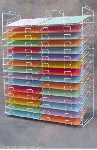 New 30 Slot Scrapbook Paper Wire Display Rack 12 X 12 Scrapbook Paper Storage Craft Paper Storage Paper Storage