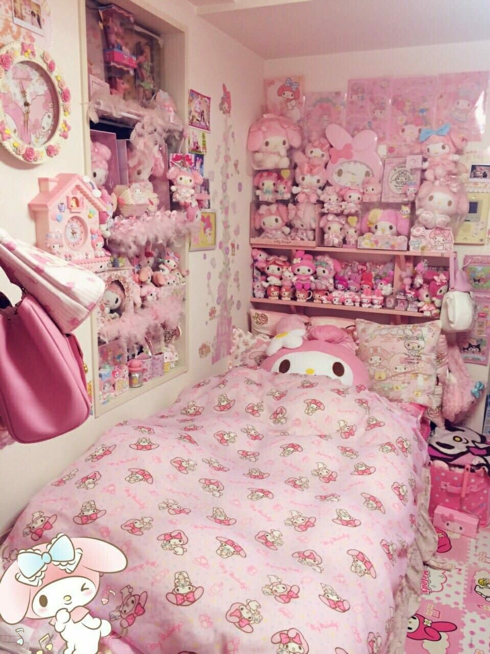 Cute Hawaii Hello Kitty Bedroom Kawaii Bedroom Kawaii Room