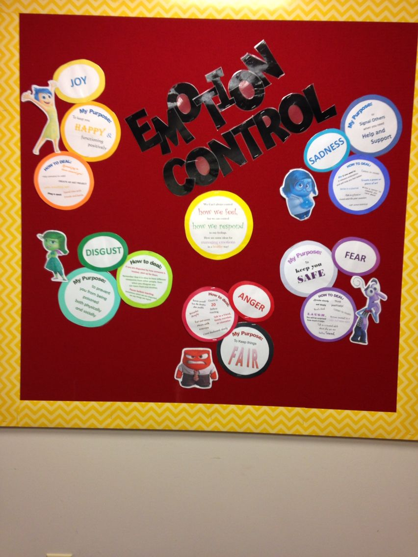 School Social Worker Bulletin Board. Emotion