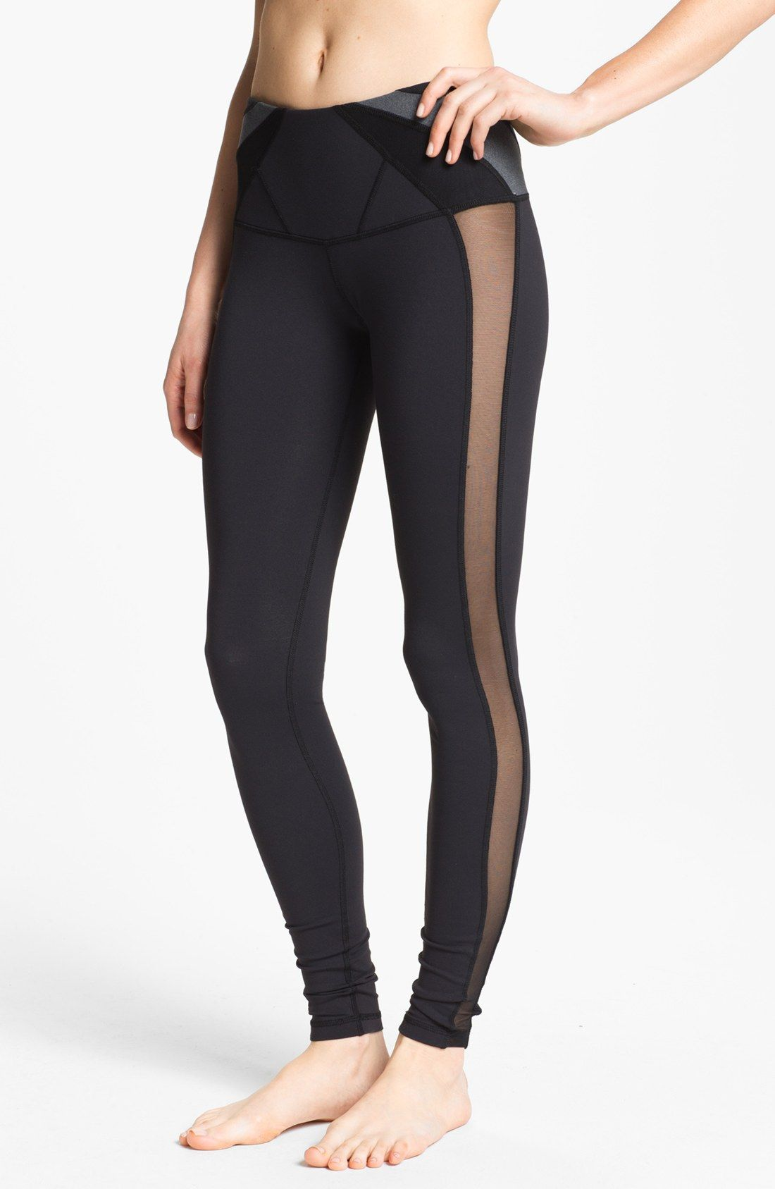 karma nellie yoga leggings w/mesh side panels | Fashion ...