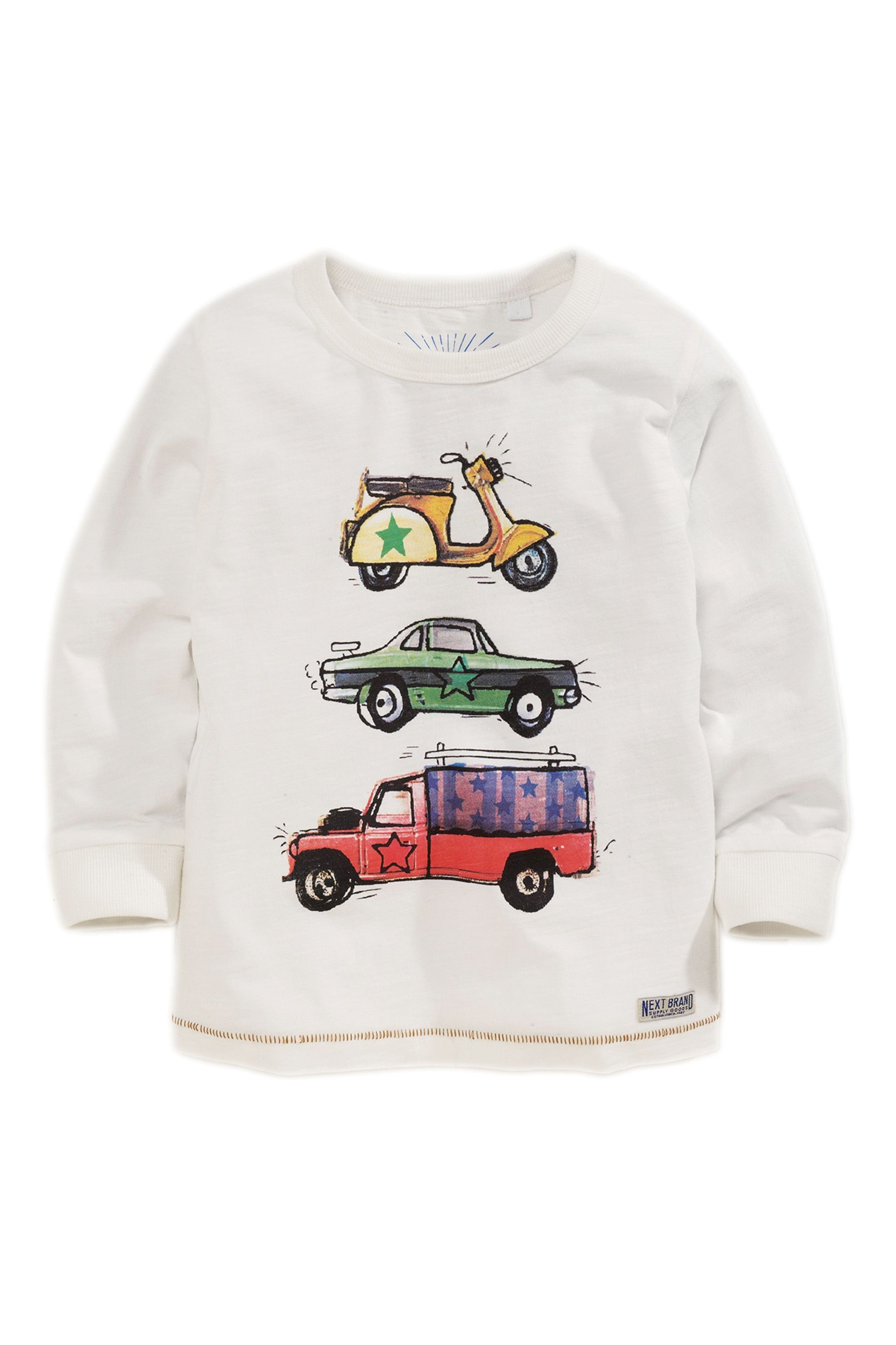 Buy Ecru Car Print T-Shirts Three Pack (3mths-6yrs) from the Next UK online shop
