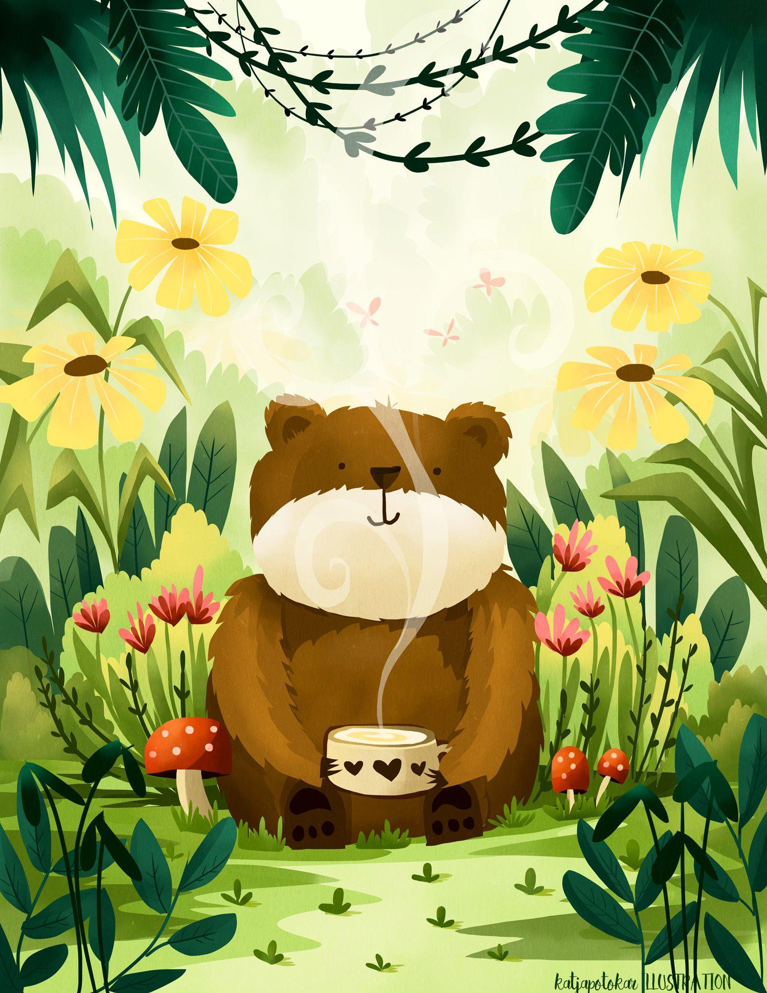 Bear with Tea, Katja Potokar