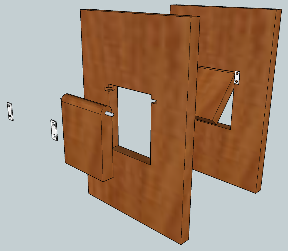 Cat door in cabinet door pinteres for Cat bathroom door