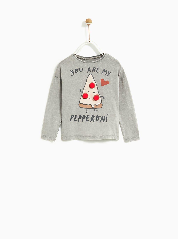 80c5555a Pizza t-shirt | AW18 Kids | Zara baby, Kids pizza, Shirts