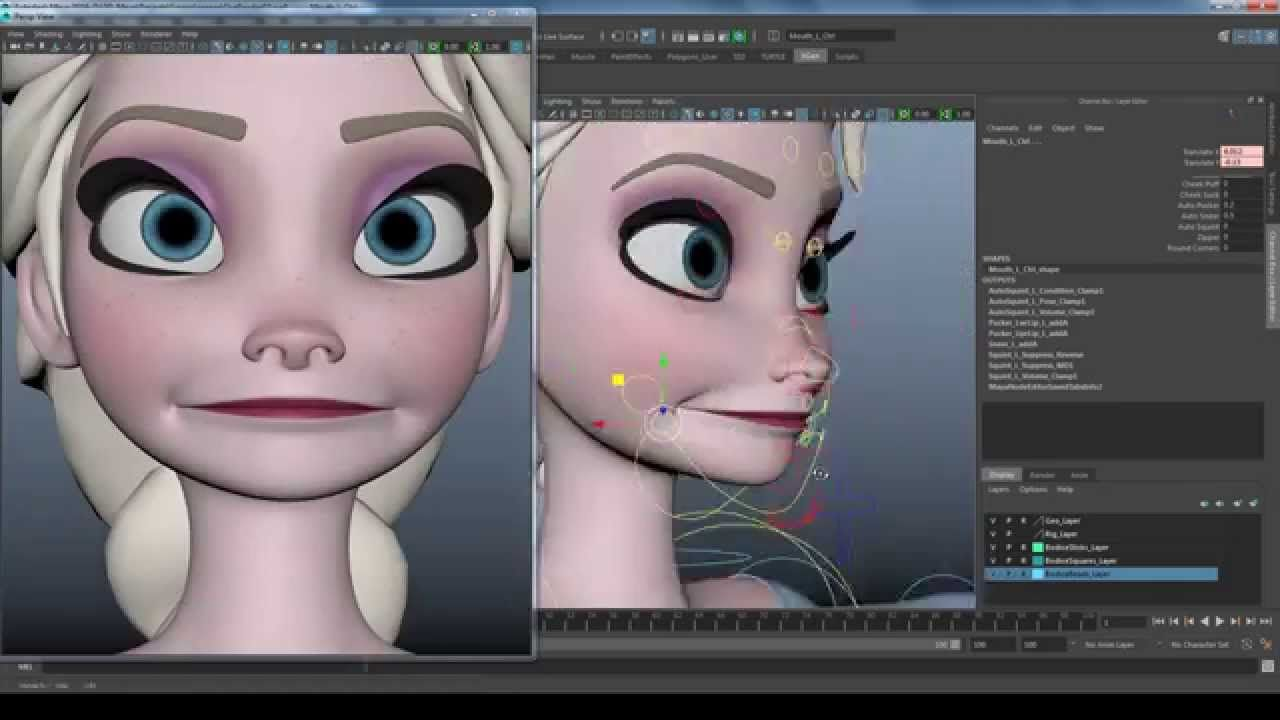Elsa Facial Rig Animation Tutorial Character Rigging Rigs