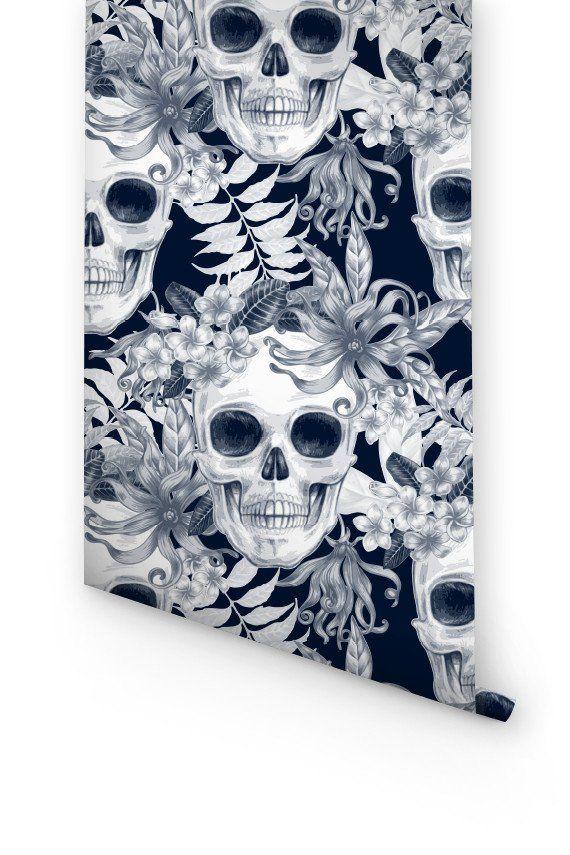 Skull Removable Wallpaper Skull Wallpaper Removable Wallpaper Wallpaper